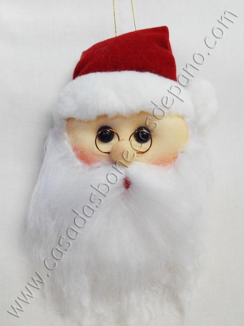 Enfeite Carinha de Papai Noel