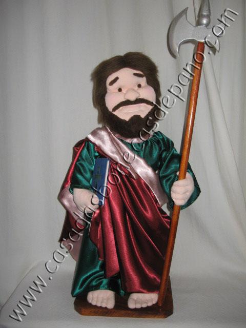 Boneco São Judas escultura em tecido