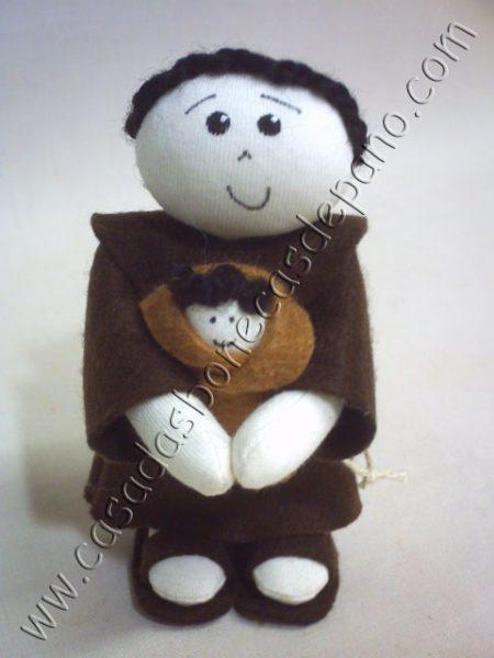 Mini Boneco de pano Santo Antonio