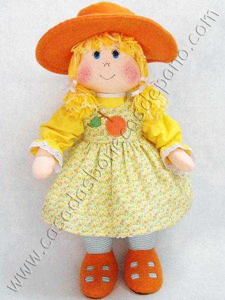 Boneca Laranjinha do tema Moranguinho