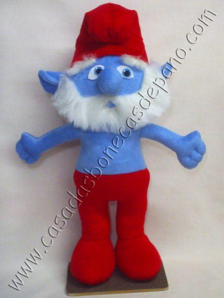 Pelúcia Papai Smurf Tema Smurfs