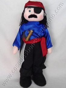 boneco pirata caolho