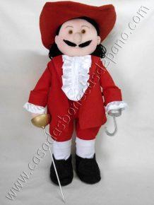 Boneco Capitão Gancho tema Piratas