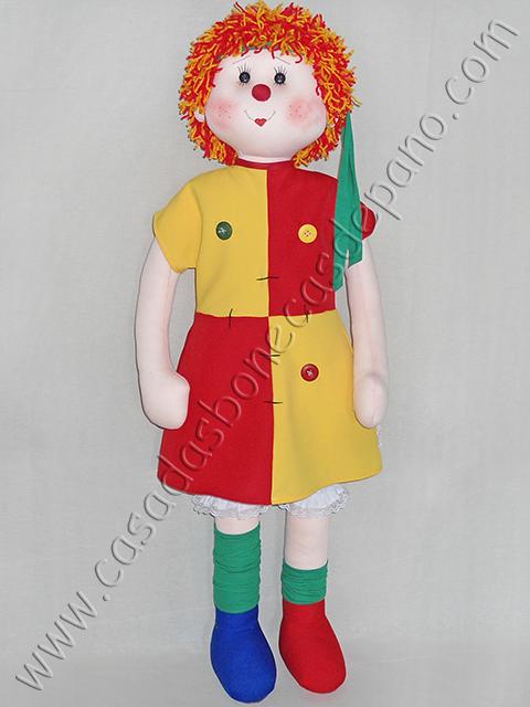 Boneca Emília tema Sítio do Picapau Amarelo