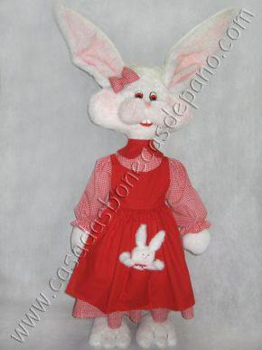 Pelúcia Coelha de Páscoa