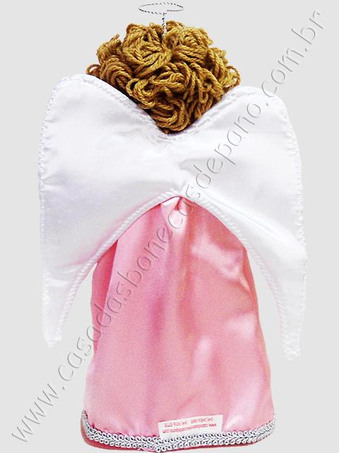 Boneco de pano anjo enfeite de mesa