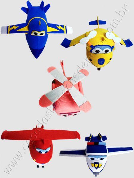Aviões Super Wings em feltro