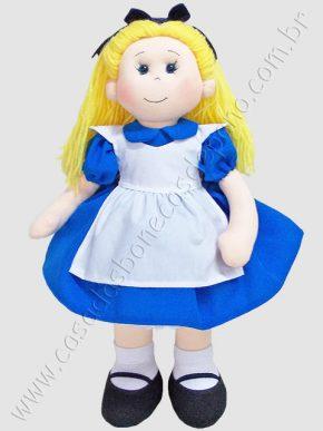 Boneca Alice tema Alice no País das Maravilhas