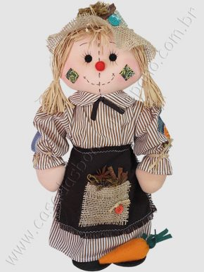 Boneca para decoração de festa tema fazendinha