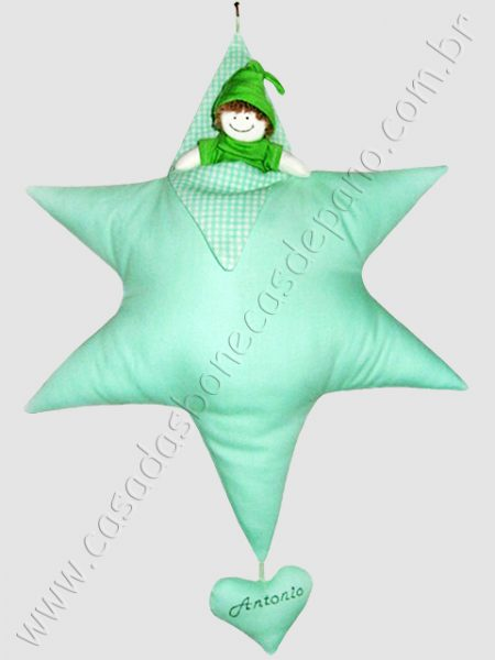 Estrela de David para porta de maternidade