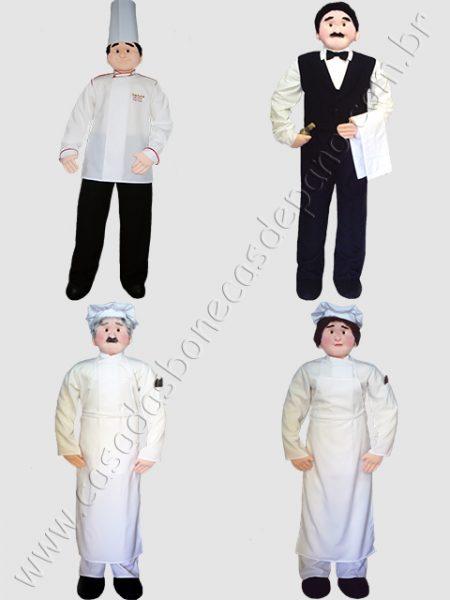 Bonecos e bonecas em tamanho real