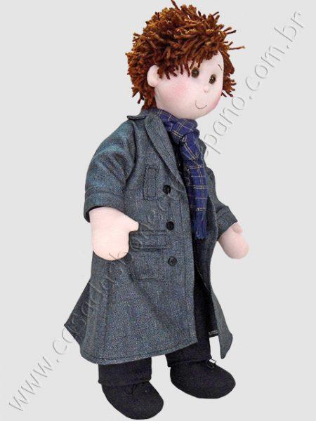 Boneco de pano do tema Sherlock Holmes