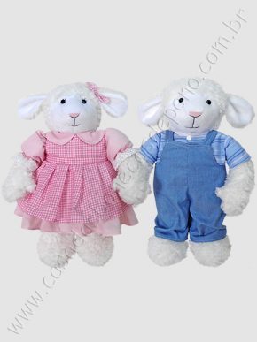 Casal ovelhinhas de pelúcia do tema Fazendinha
