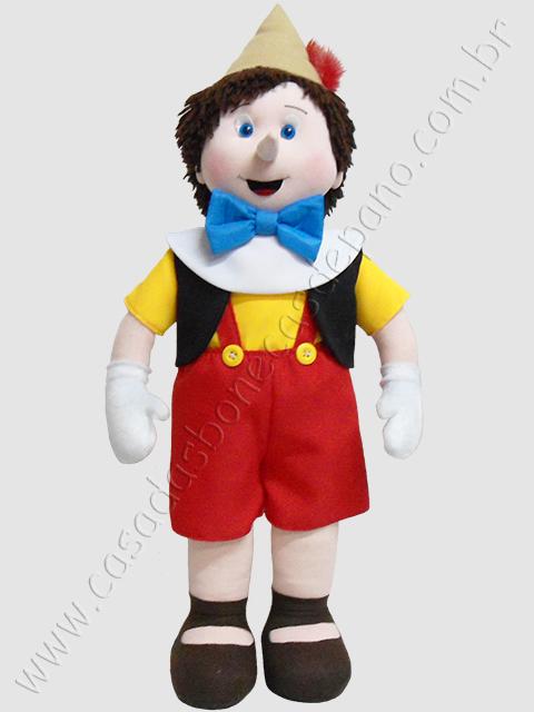 Boneco Pinóquio para decoração de festa infantil